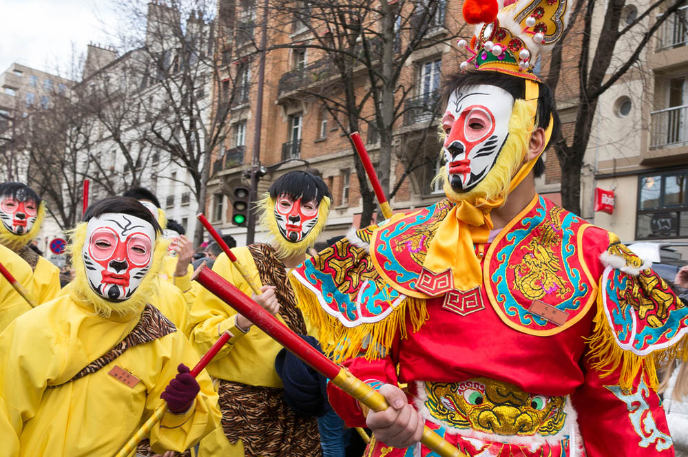 Chinatown parade for the Chinese New Year in Paris. Photo: Shutterstock