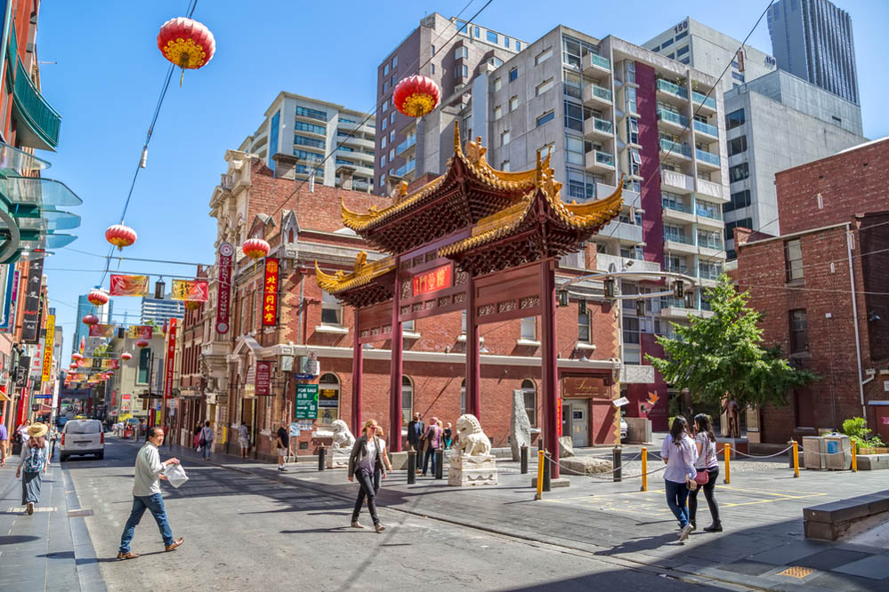 People walk down the Chinatown main street  in Melbourne. Photo: Shutterstock