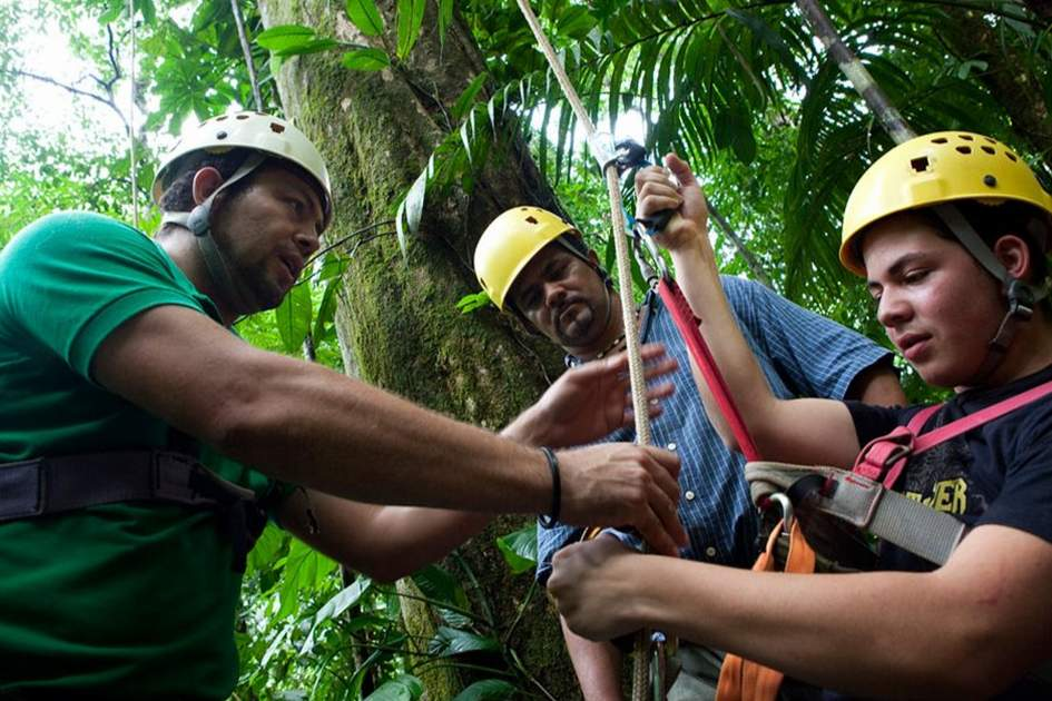 Zip-lining in Costa Rica. Photo: Corrie Wingate/APA