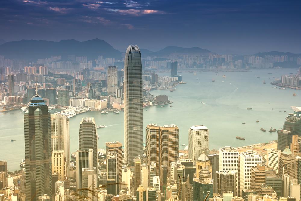 View of IFC2 in Hong Kong.