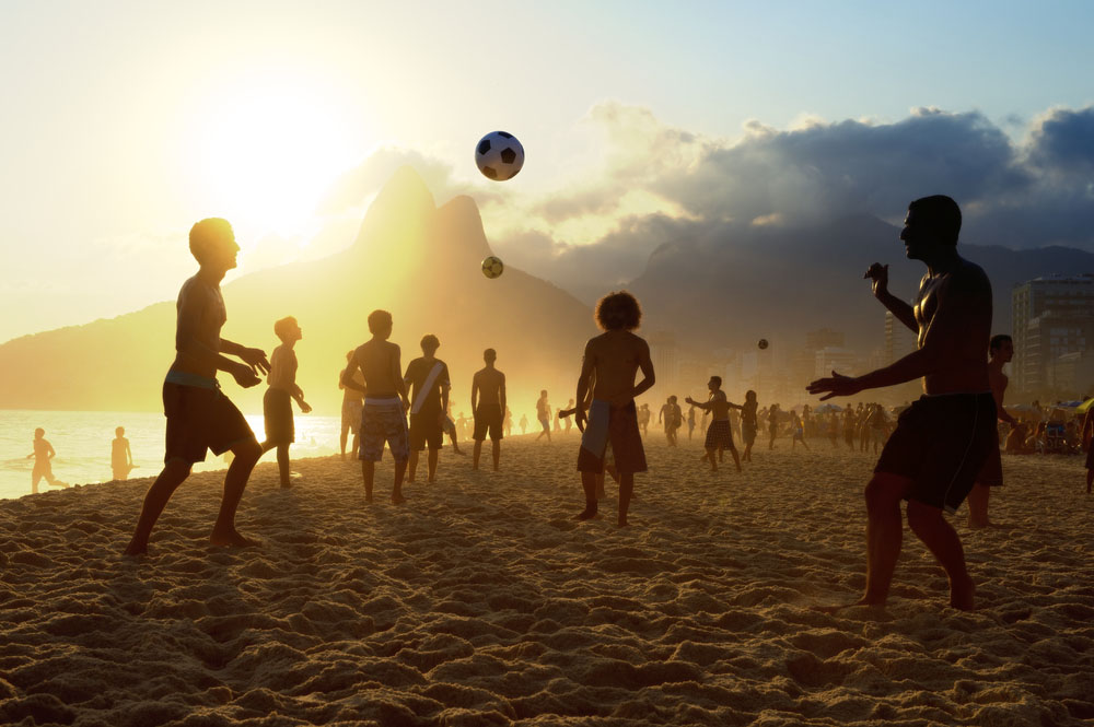 Beach football at Ipanema Beach Rio de Janeiro. Photo: Shutterstock