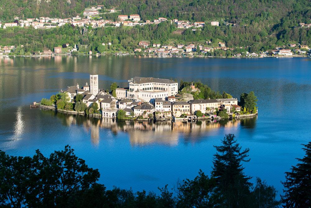 A View of San Giulio Island, Lake Orta. Photo: Shutterstock