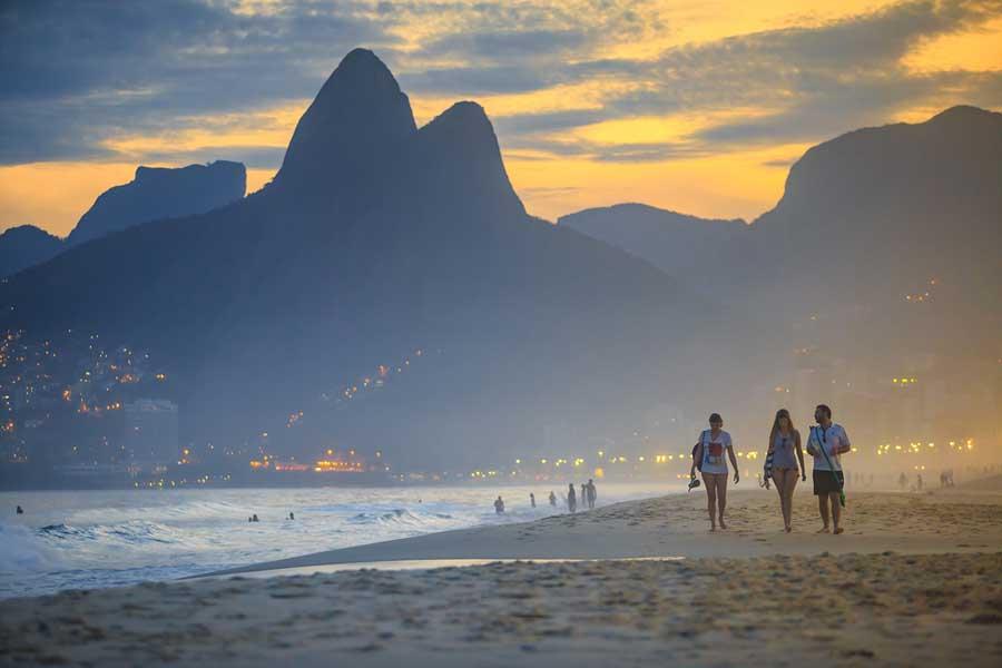 Beach in Rio de Janeiro.