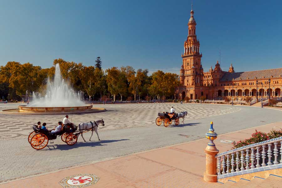 Seville, Spanish Square or Plaza de Espana.