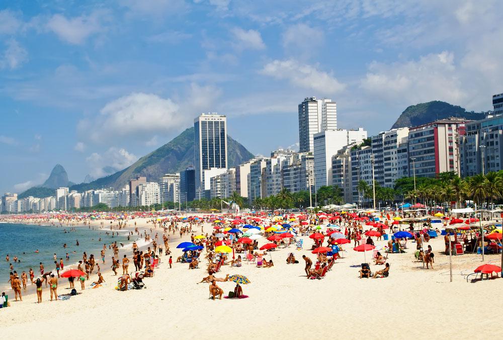 Beach Leme and Copacabana in Rio de Janeiro. Photo: Shutterstock
