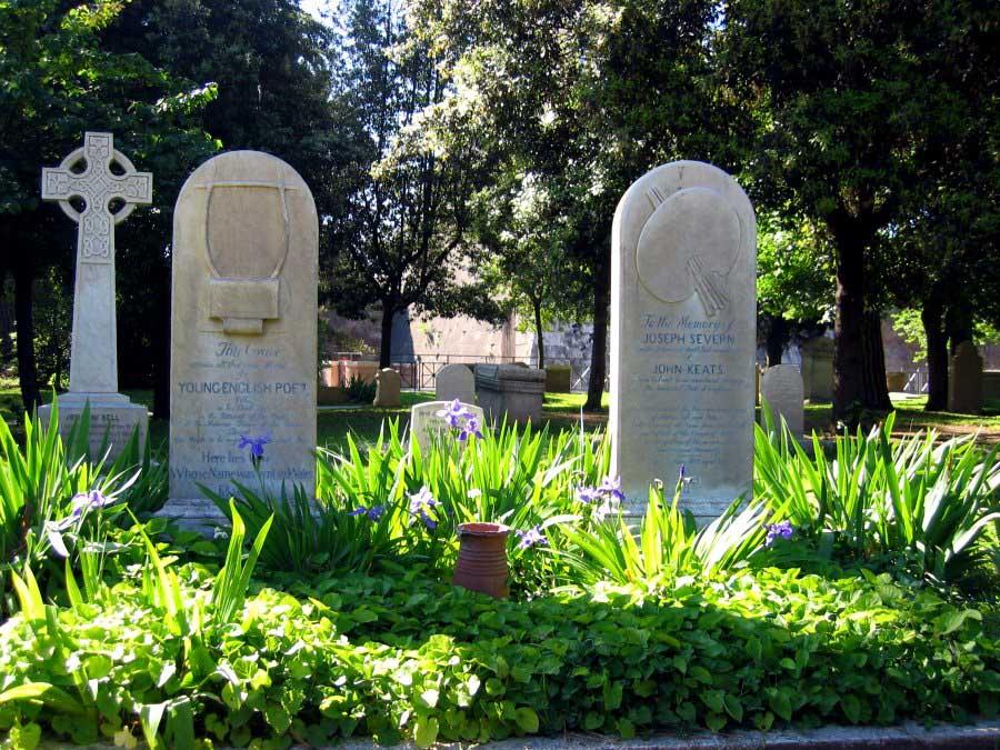Grave of John Keats in the Protestant Cemetery in Rome. Photo: Allison Meier/Flickr