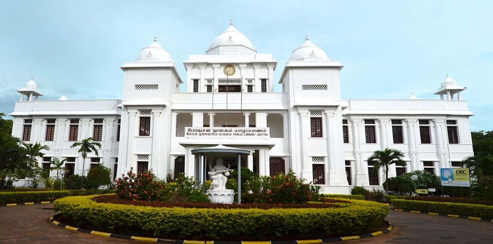 The distinctive architecture of Jaffna Public Library. Photo: Maithree Wimalasekare/Shutterstock