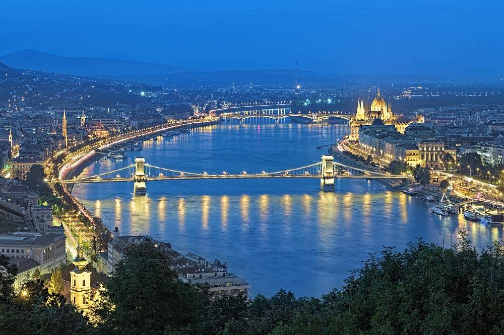 Evening view of Danube River in Budapest. Photo: Shutterstock