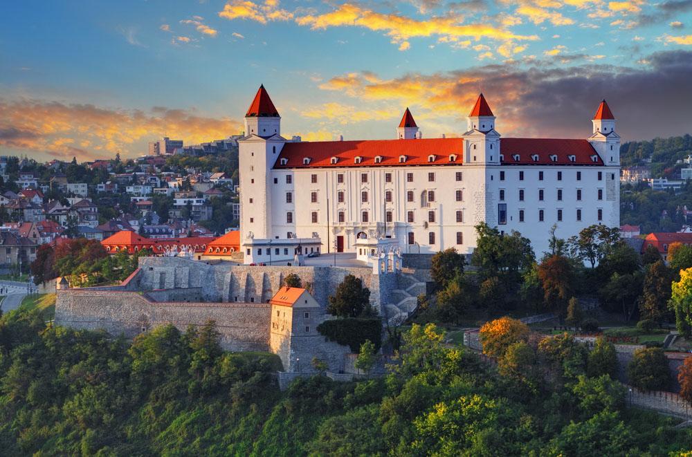 Bratislava castle at sunset. Photo: Shutterstock