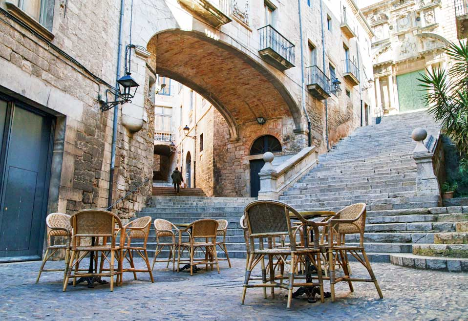 Sant Domenec Stairs in Girona. Photo:  Shutterstock