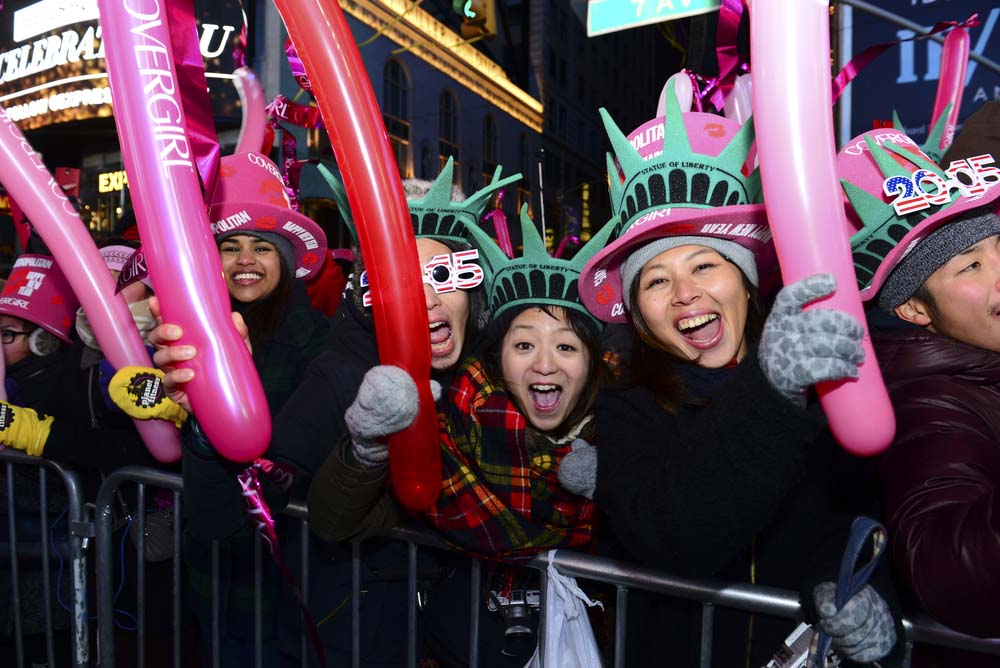 Celebrating New Year in Times Square. Photo: Shutterstock