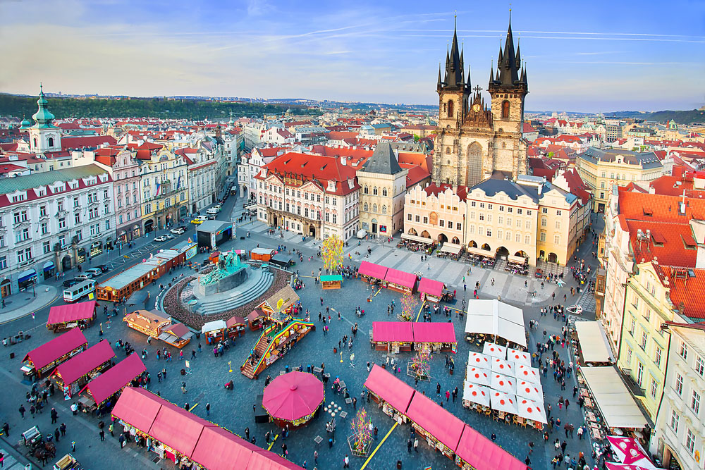 Marketplace during the Easter celebrations in Prague. Photo: Shutterstock