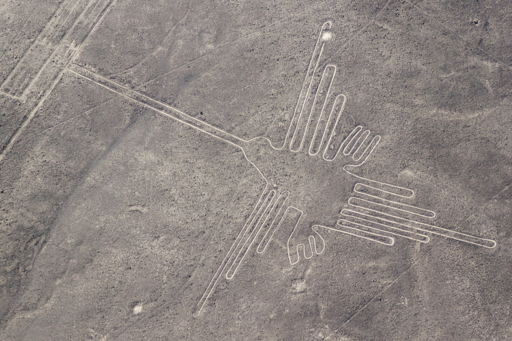 Aerial view of geoglyphs near Nazca. Photo: Shutterstock