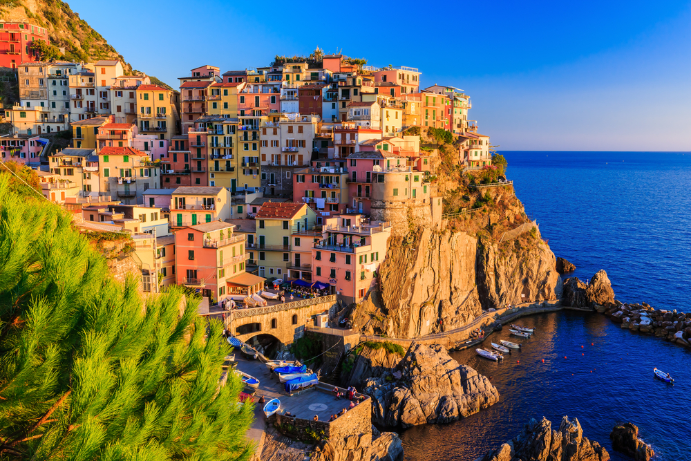Manarola village at sunset. Cinque Terre National Park, Liguria Italy. Photo: Sorin Colac/Shutterstock
