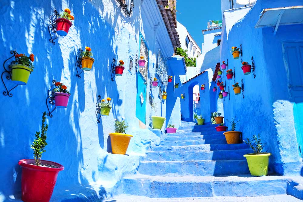 The picturesque city of Chefchaouen.
