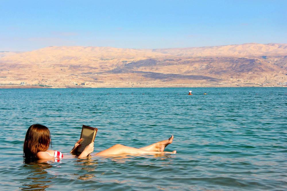 Dead Sea bathing.