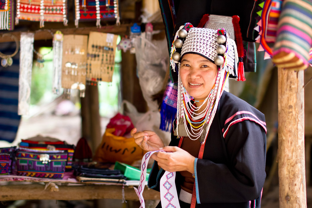 Karen tribe woman poses for the camera in Chiang Mai. Photo: Shutterstock