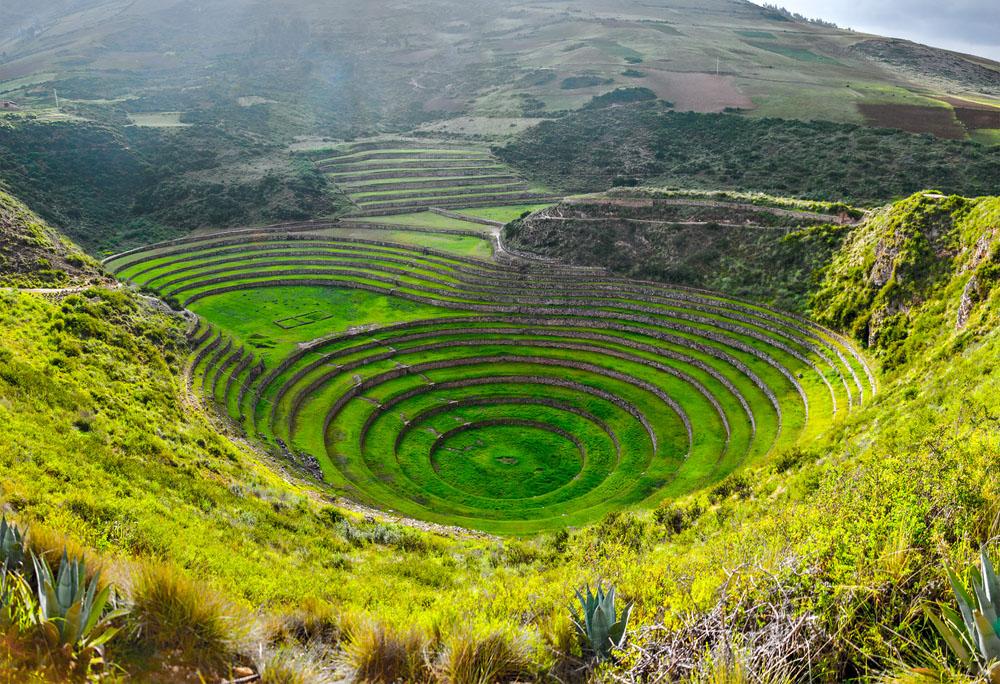 Ancient Inca circular terraces at Moray. Photo: Shutterstock