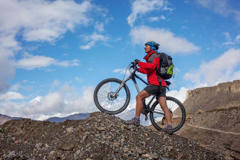 Biking in Himalaya. Photo: Shutterstock