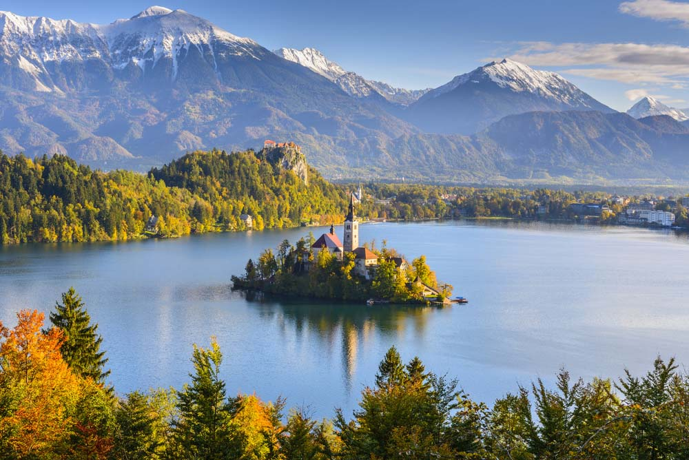 Lake Bled from Mt. Osojnica, Slovenia. Photo: Shutterstock