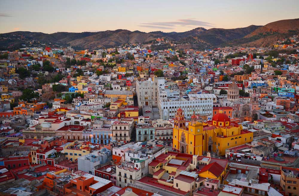 Guanajuato view after sunset, Mexico. Photo: Shutterstock