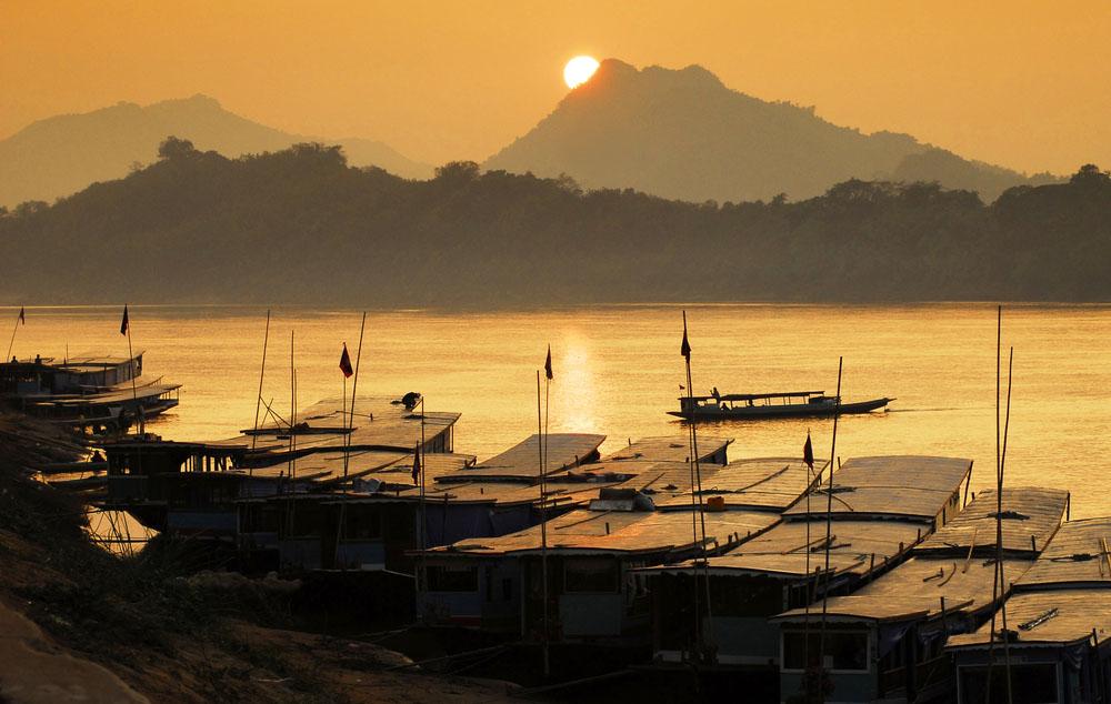 Mekong river, port, Luang Prabang, Laos. Photo: Shutterstock
