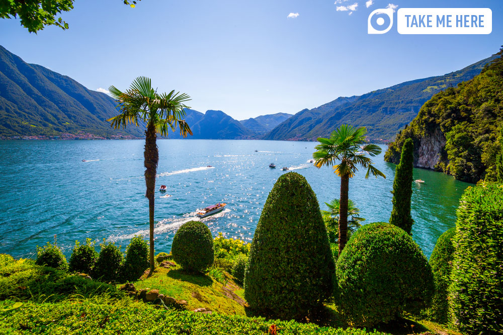 Lake Como in the summertime