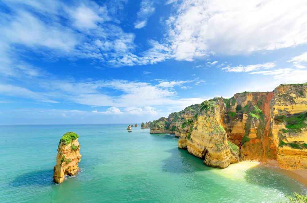 Stunning coastline near Lagos, Portugal.