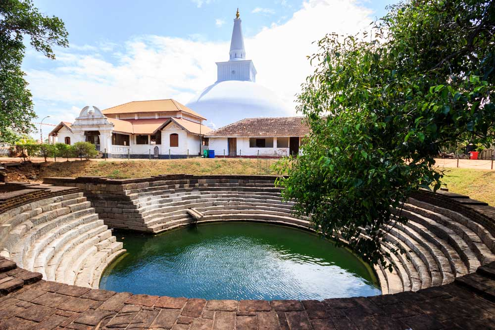 The Buddhist stupa in Anuradhapura. Photo: Shutterstock
