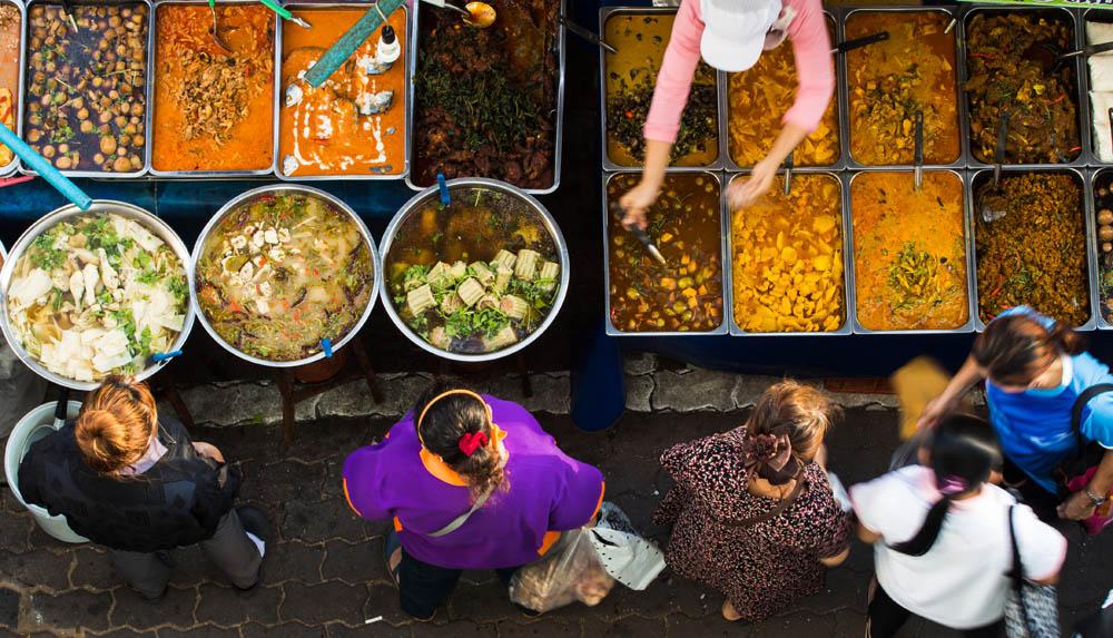 Street food served on Yaowarat Road, Bangkok