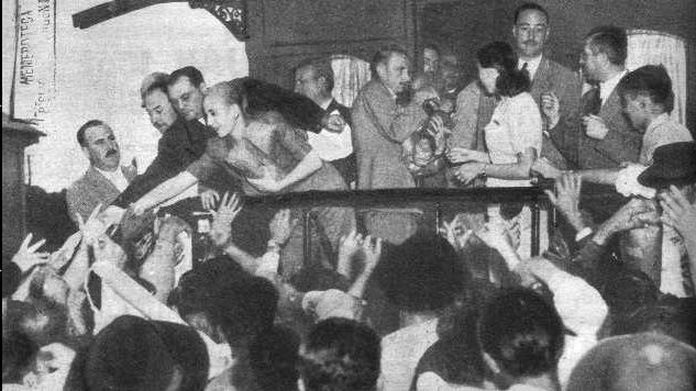 Evita during elections in 1946. Photo: Unknown author/public domain