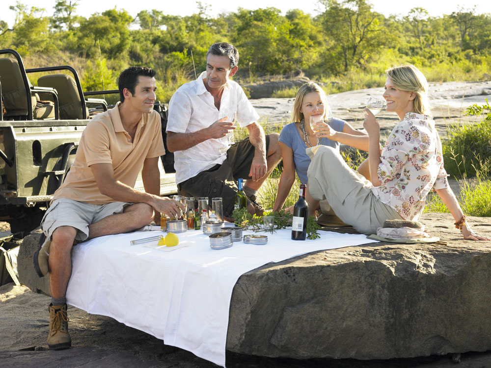 Picnic fun while on safari in South Africa. Photo: Shutterstock