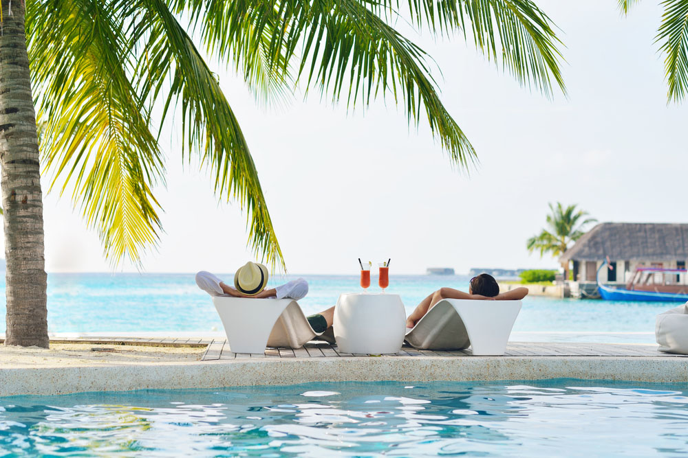 Relaxing on Maldives beach. Photo: Shutterstock