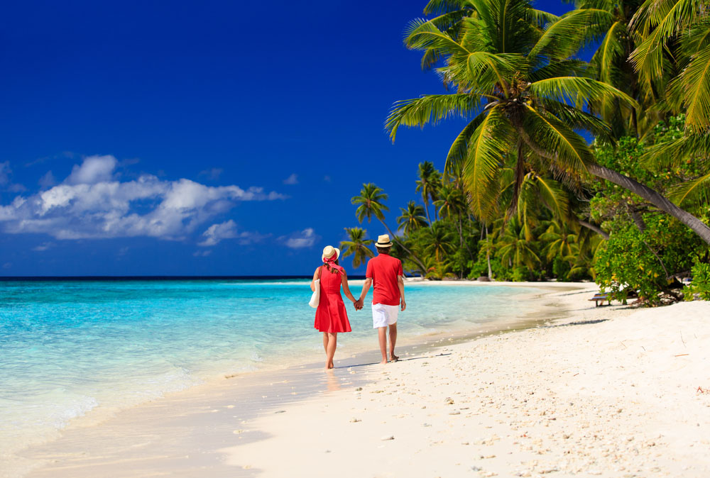 Walking on Sri Lanka beach. Photo: Shutterstock