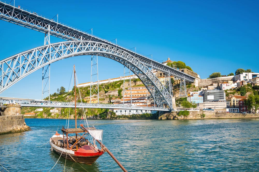Dom Luis bridge in Porto.