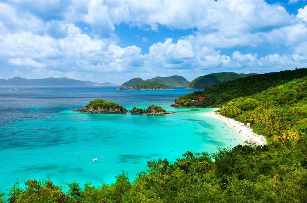 Picturesque Trunk bay on St John island, US Virgin Islands. Photo: Shutterstock
