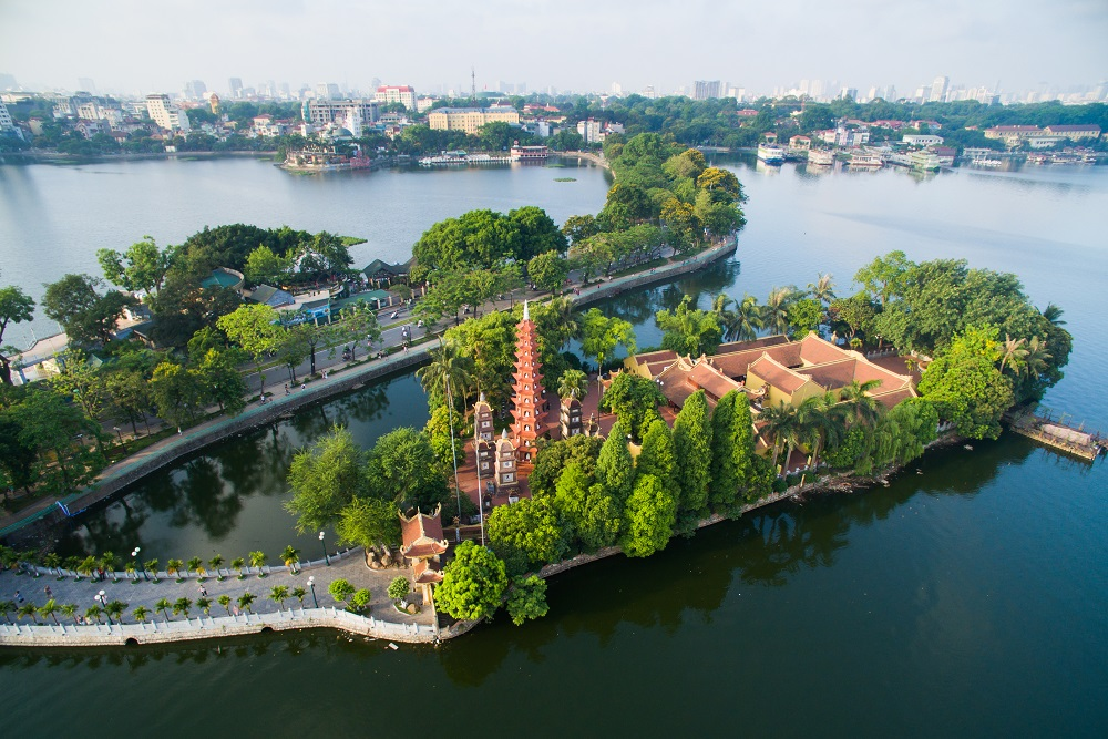 Tran Quoc Pagoda in Hanoi, Vietnam. Photo: Jimmy Tran/Shutterstock