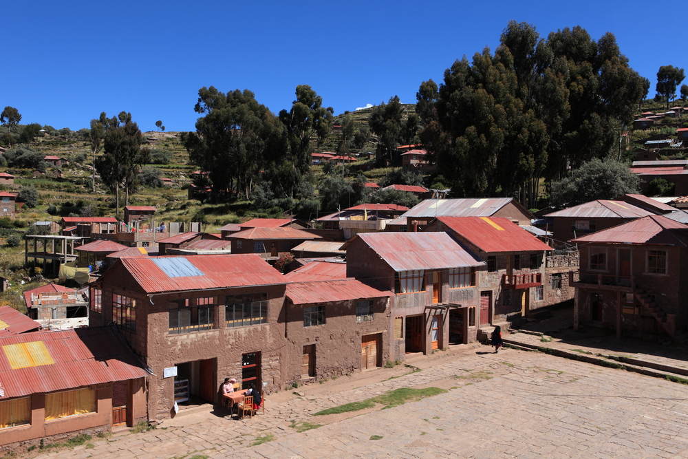 Village and Terrace Farming at Island Taquile Lake Titicaca. Photo: Shutterstock
