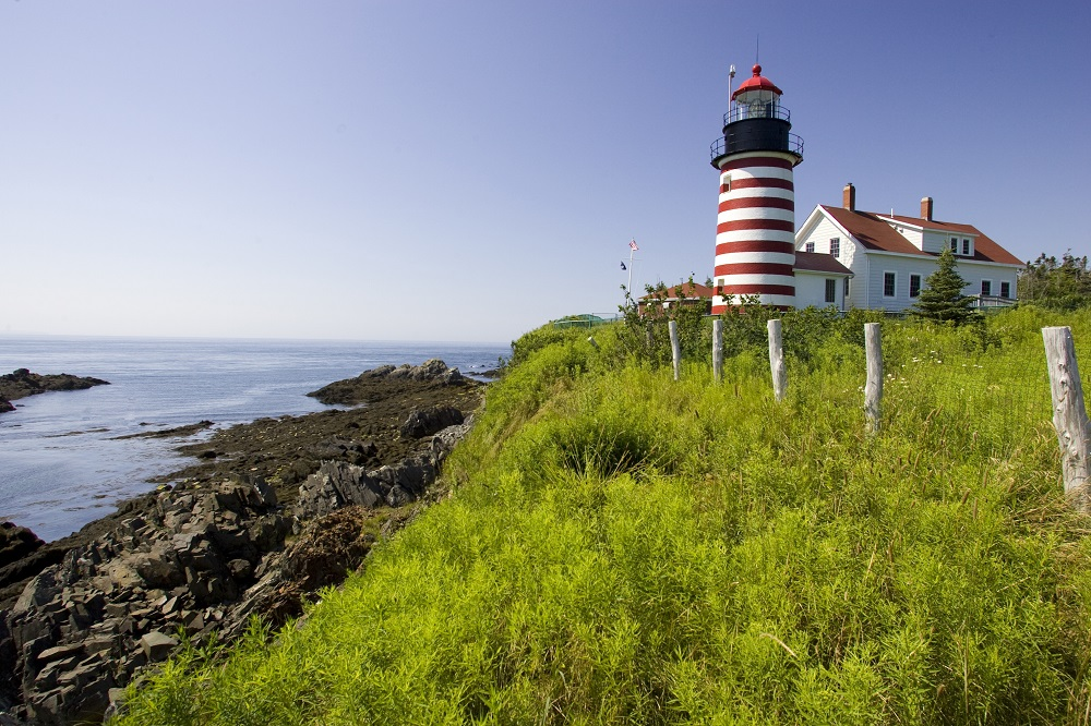 Coastal Scenic West Quoddy Lighthouse, Maine. Photo: S.R. Maglione/Shutterstock
