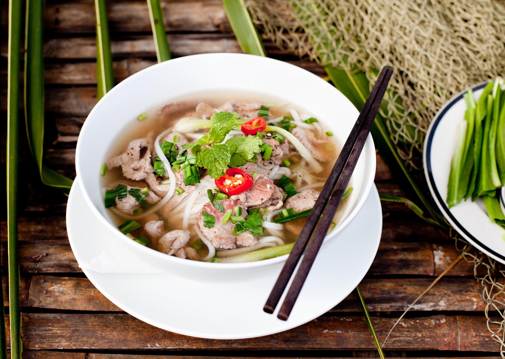 Vietnamese beef soup. Photo: Anna_Pustynnikova/Shutterstock