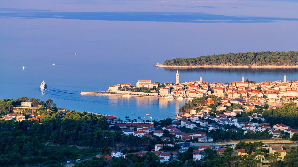 Rab town, Croatia.