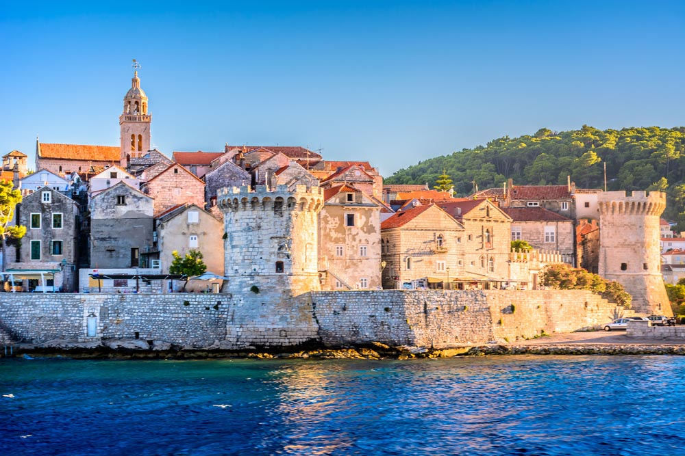 Korčula, Croatia – thought to be the birthplace of Marco Polo.