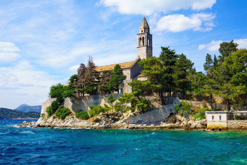 Franciscan monastery on Lopud, Elafiti Islands, Croatia.