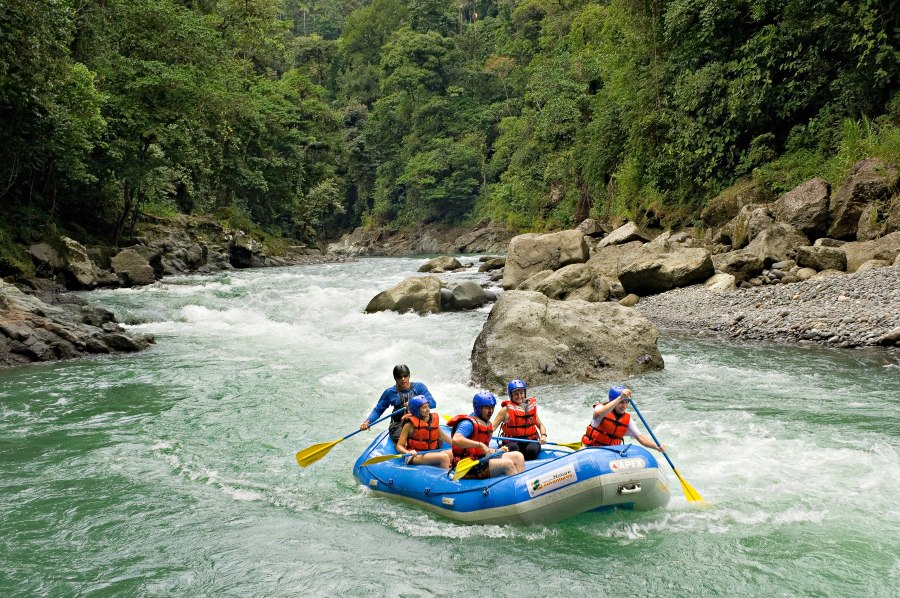 White-water rafting from Pacuare Lodge.