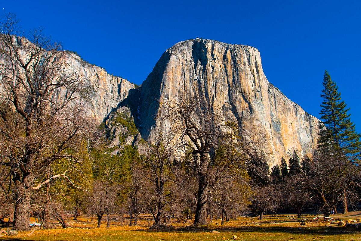 The El Captain Rock in Yosemite National Park.