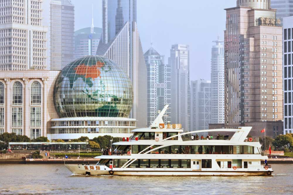 Cruise boat at Huangpu River