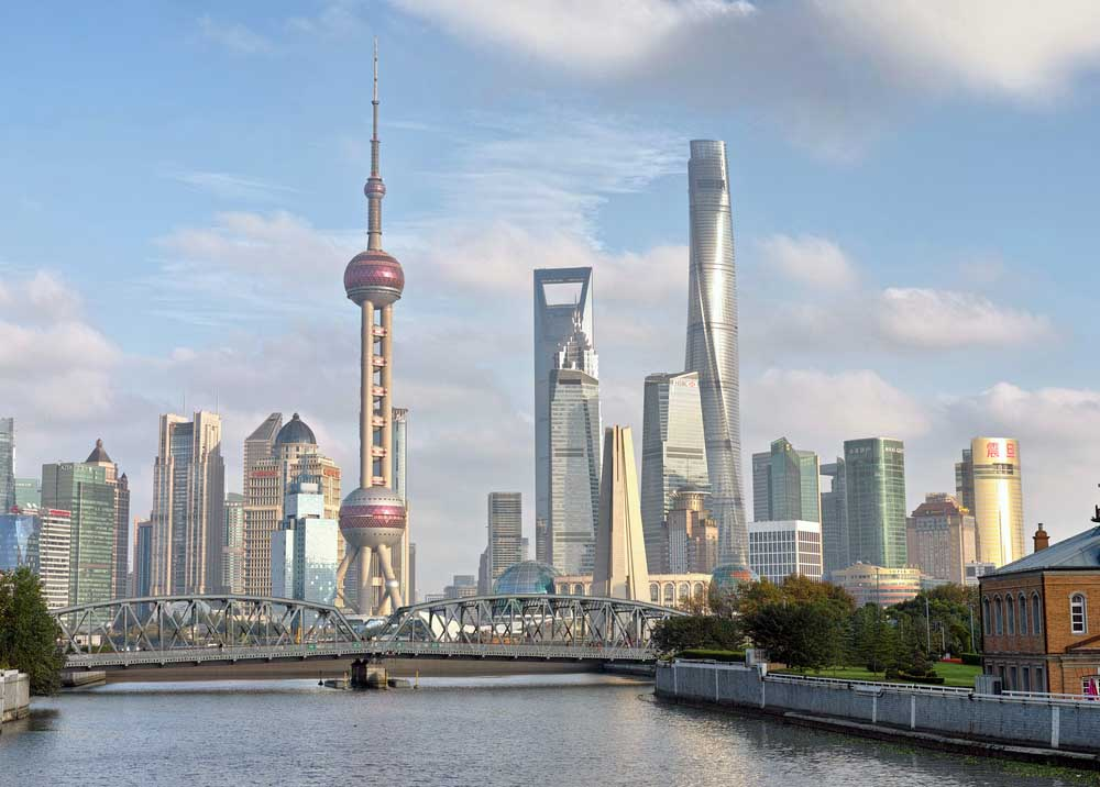 Shanghai's Pudong viewed from Suzhou River