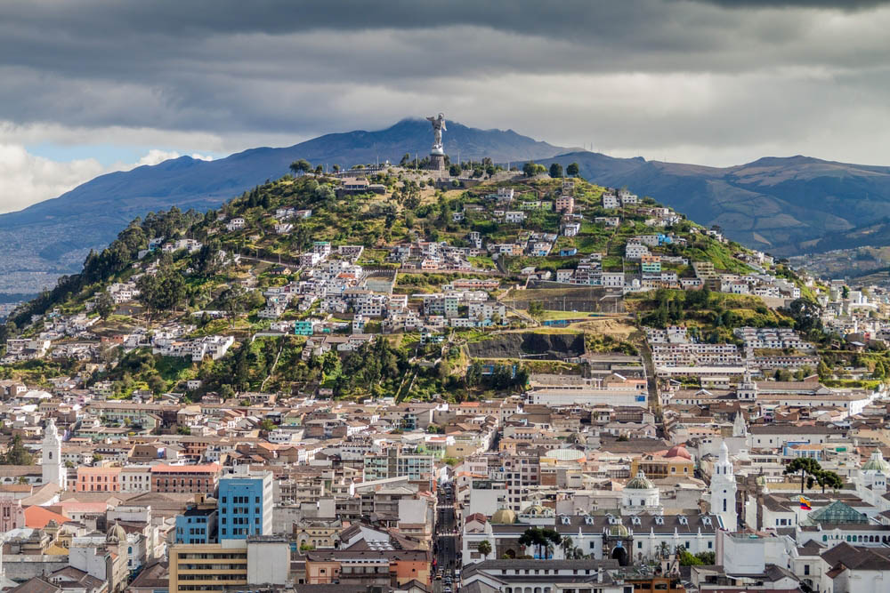 El Panecillo hill in Quito. Photo: Shutterstock