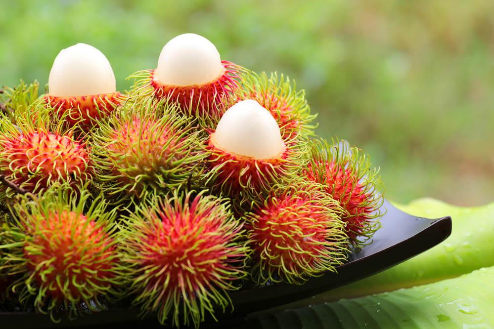 Rambutan: a strange-looking Asian fruit. Photo: Shutterstock