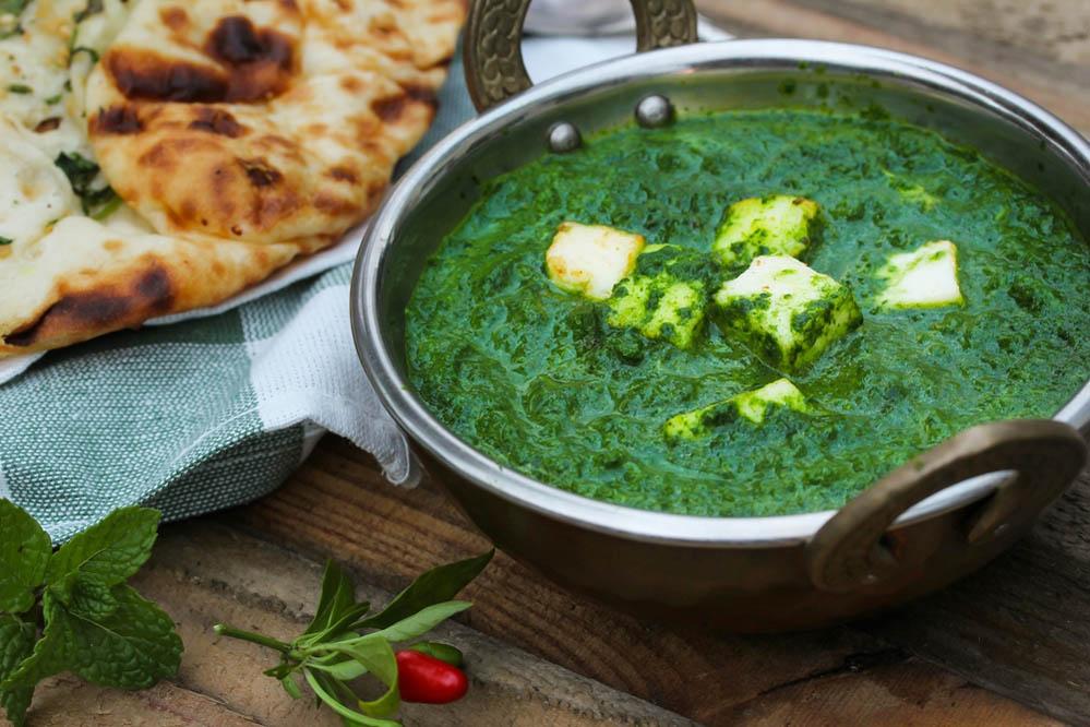 The tasty Saag Paneer. Photo: Shutterstock